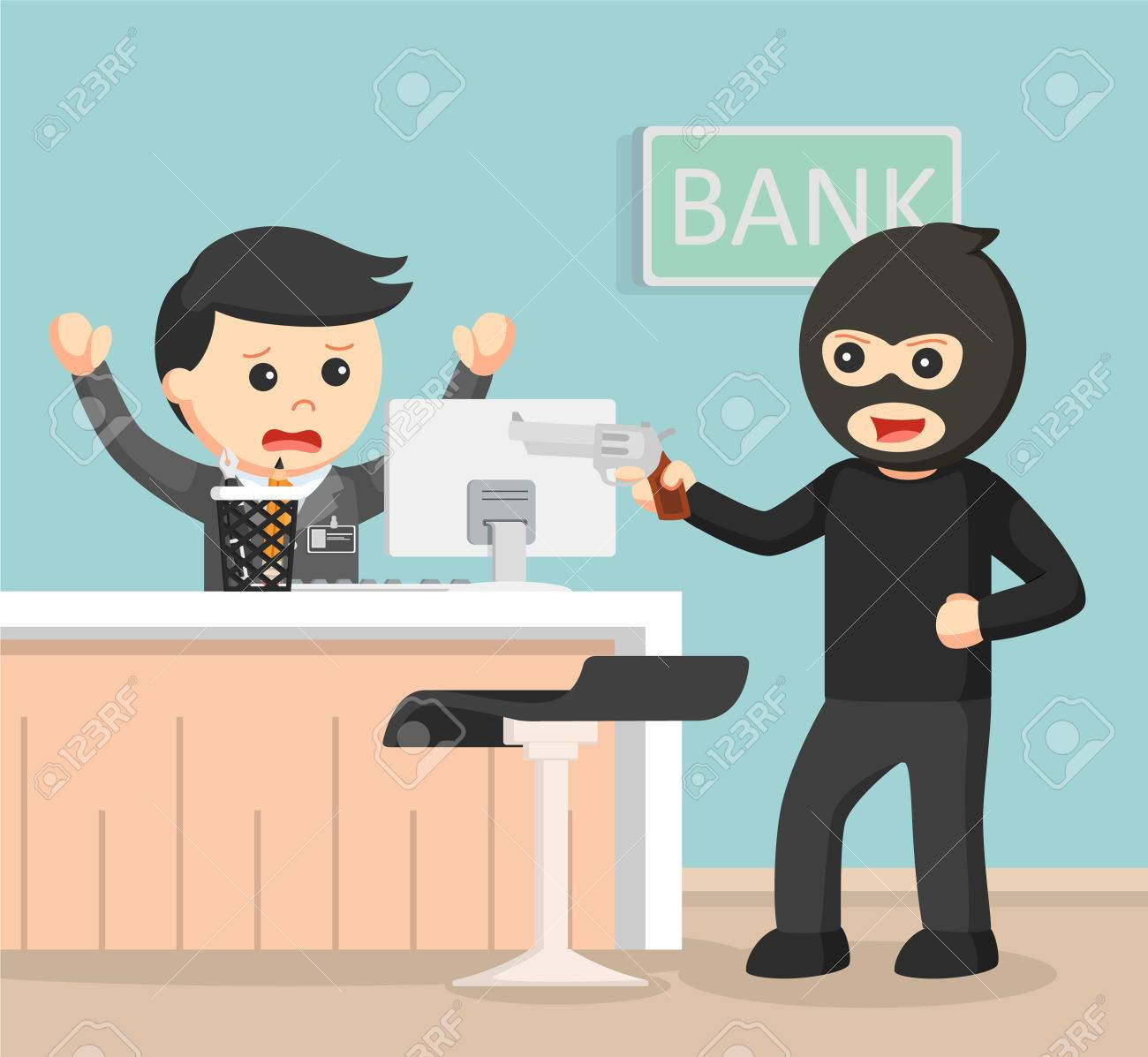 Bank Robbery Clip Art.
