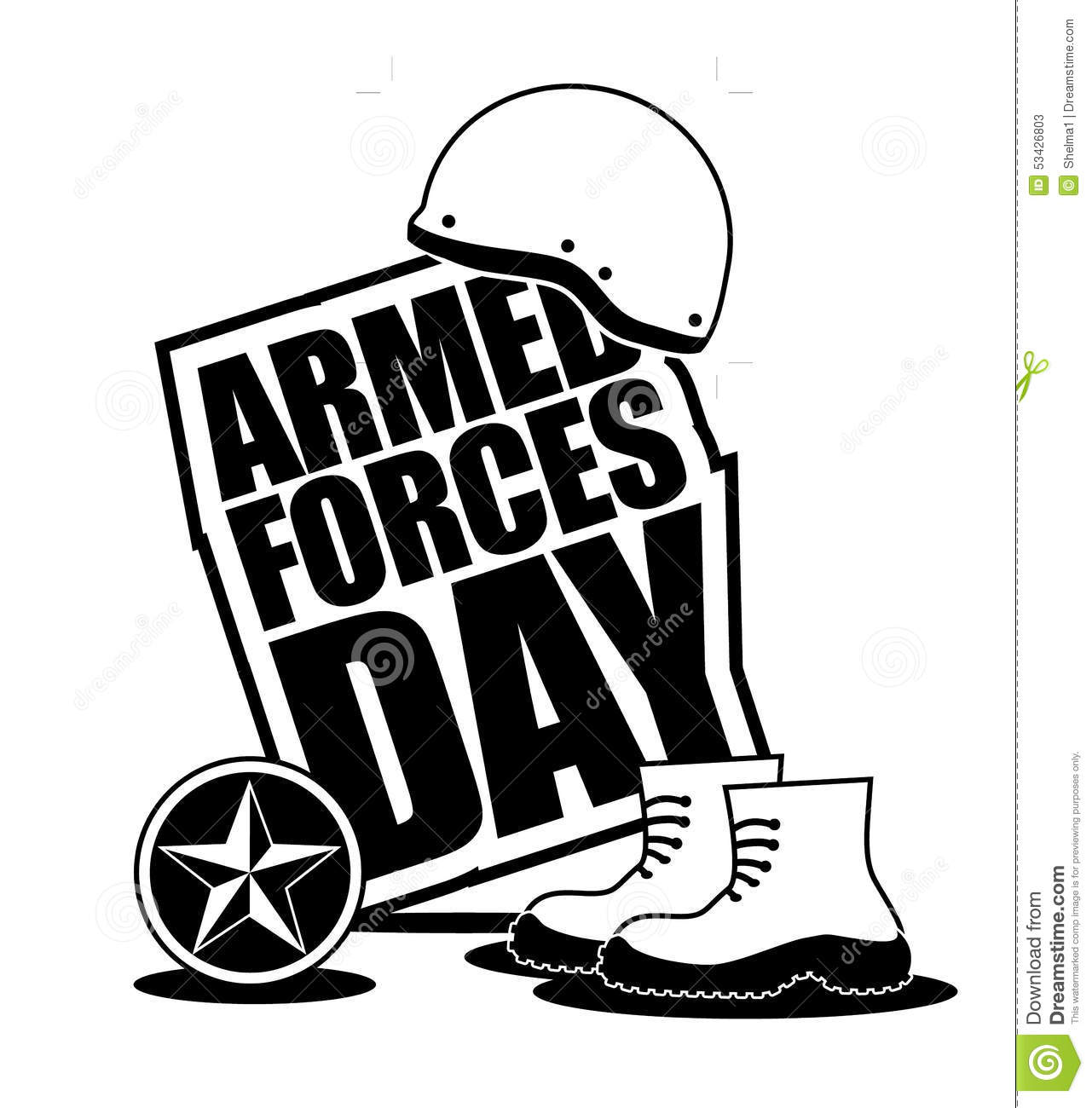 Armed Forces Day Icon EPS 10 Vector Stock Vector.