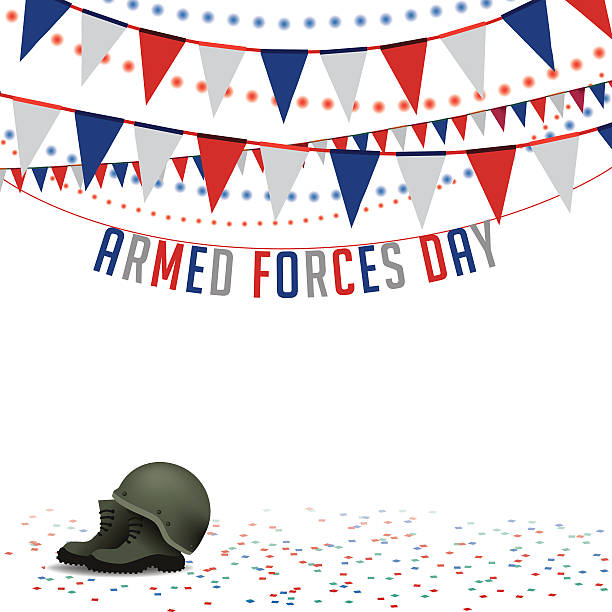 Armed Forces Day bunting background EPS 10 vector » Clipart.
