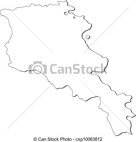 Vector Clip Art of Map of Armenia.