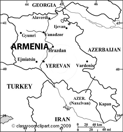 Armenia map clipart.