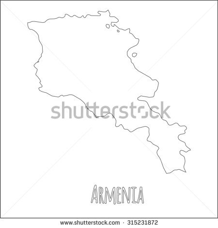 Armenia Outline Map Stock Vectors & Vector Clip Art.