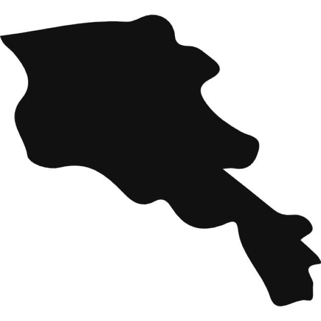Armenia black country map shape Icons.