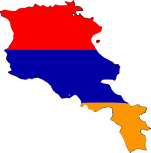 Armenia Flag Map Clip Art at Clker.com.