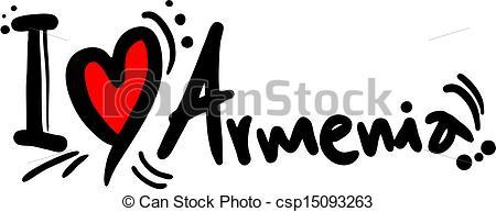Clip Art Vector of Love armenia.