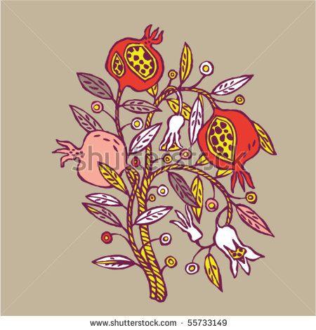 pomegranate tree.
