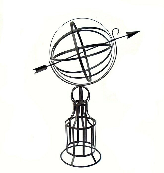 Details about Large Armillary Sundial on Base 19\
