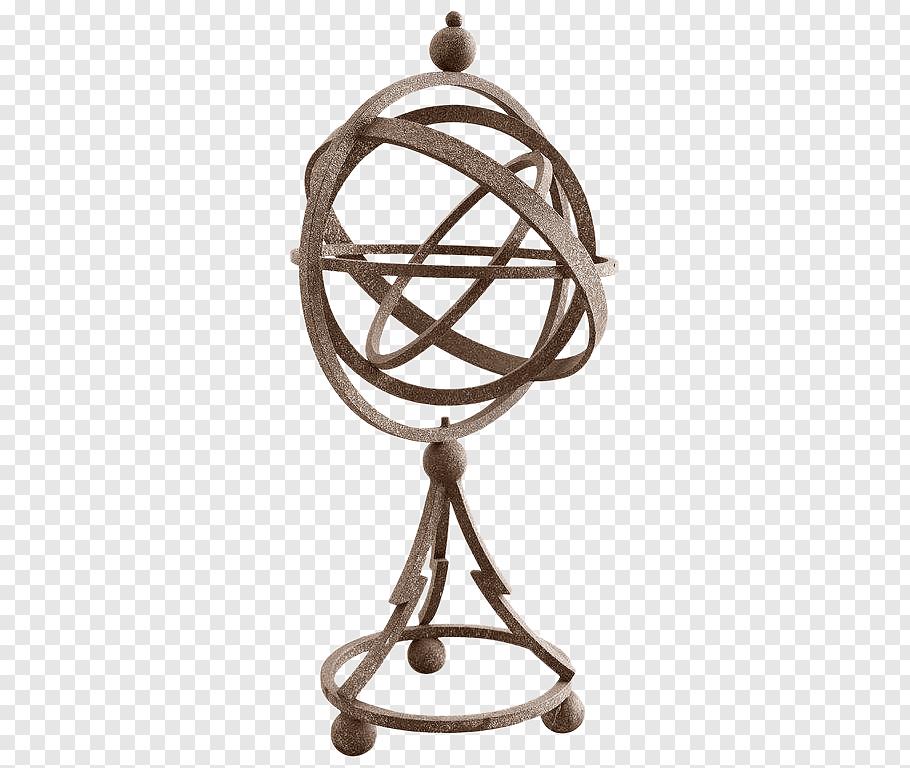 Bird Cage, Armillary Sphere, Iron, Sundial, Garden, Yard.