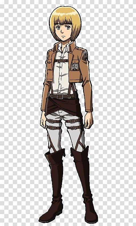 Armin Arlert Eren Yeager Mikasa Ackerman Levi Reiner Braun.