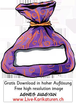 Geschenk Tuete Sack Schild.