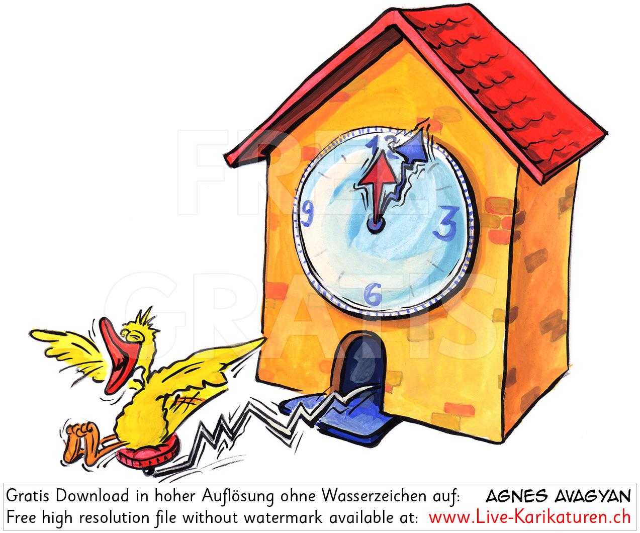 Kuckucksuhr Zeit Schwarzwalduhr.