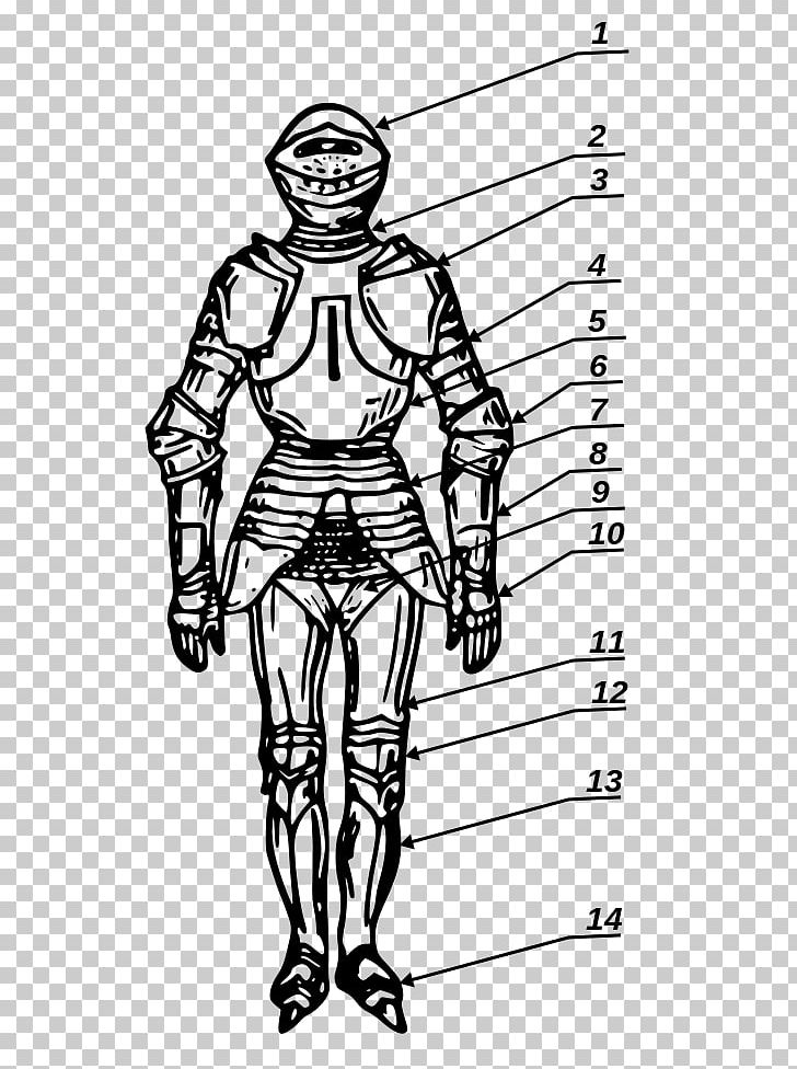 Couter Body Armor Zbroja Pełna Plate Armour Spaulder PNG.