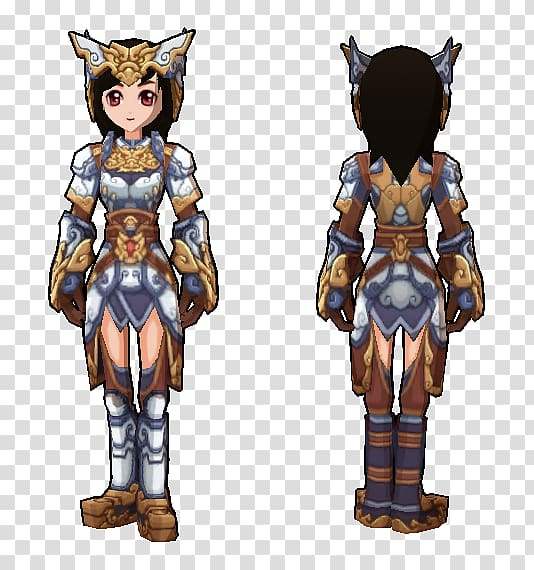 Costume design Armour Character, heavy armor transparent.
