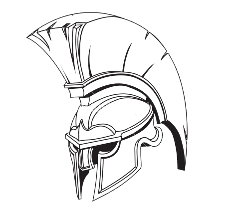 own hoplite which is the armor that included a metal helmet.