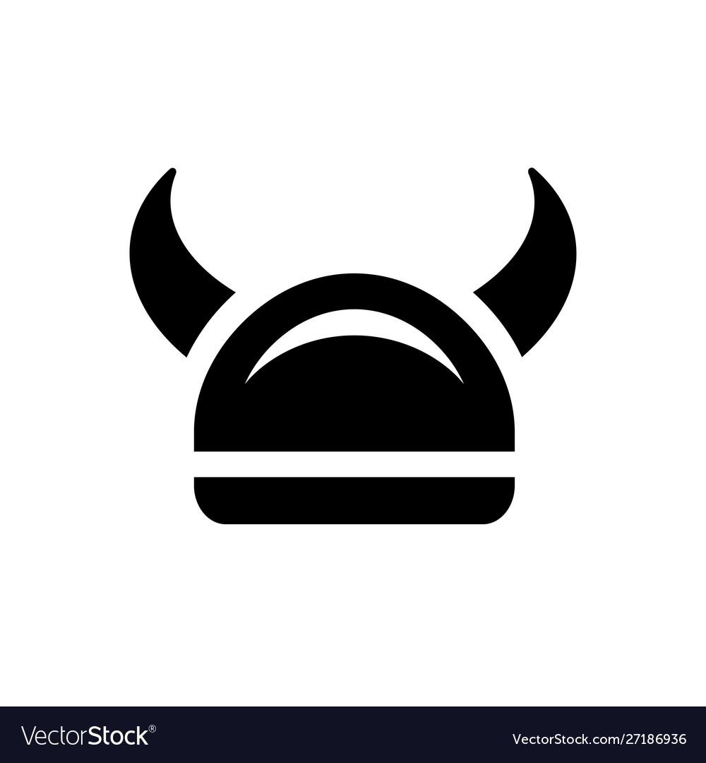 Viking warrior armor helmet icon design.