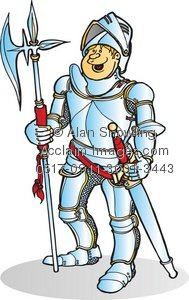 Clipart Illustration of Knight In Armor.