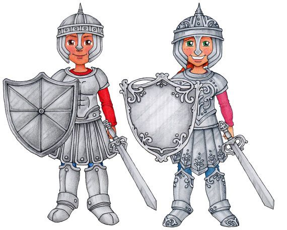 Armor of God Clip Art & Paper Doll set by SusanFitchDesign.