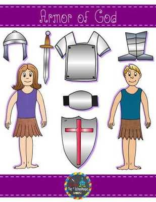 Armor of God Clipart in Color and Black & White from The.