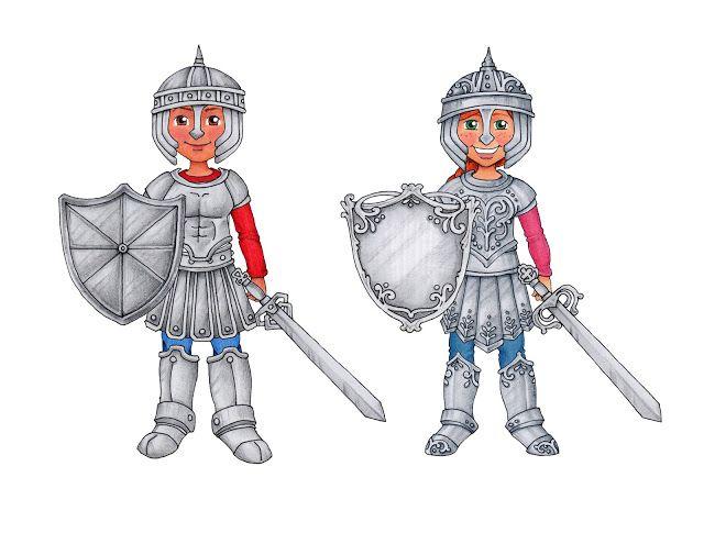 susan fitch design: Armor of God Warriors. (printable.