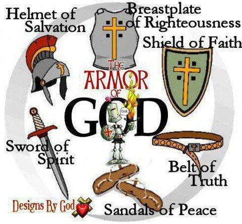 Put on the full armor of God.