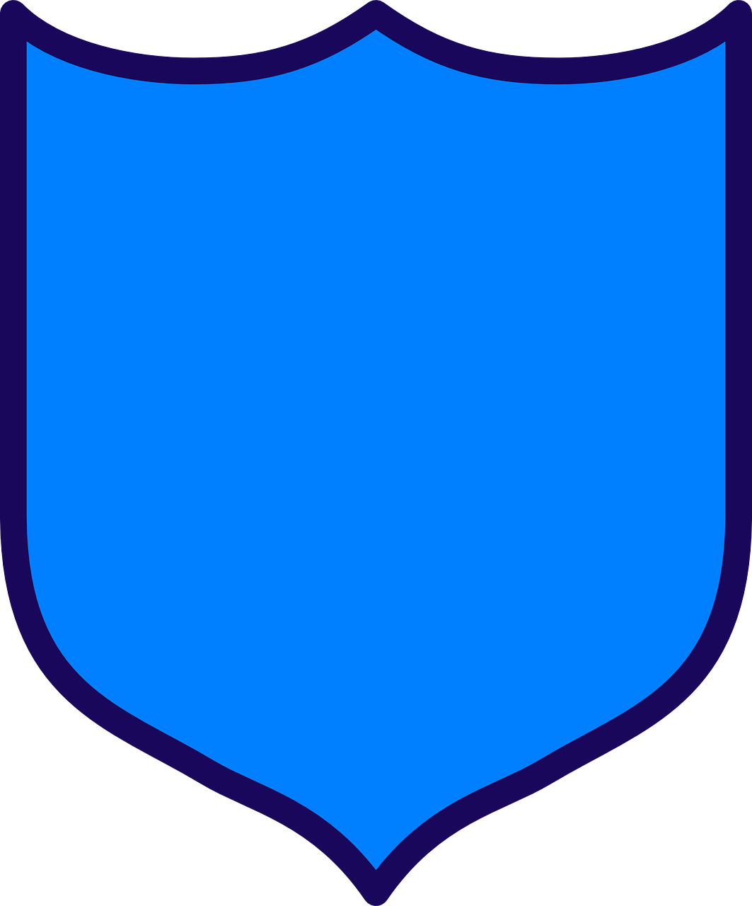 Shield Armor Protection Blue PNG.