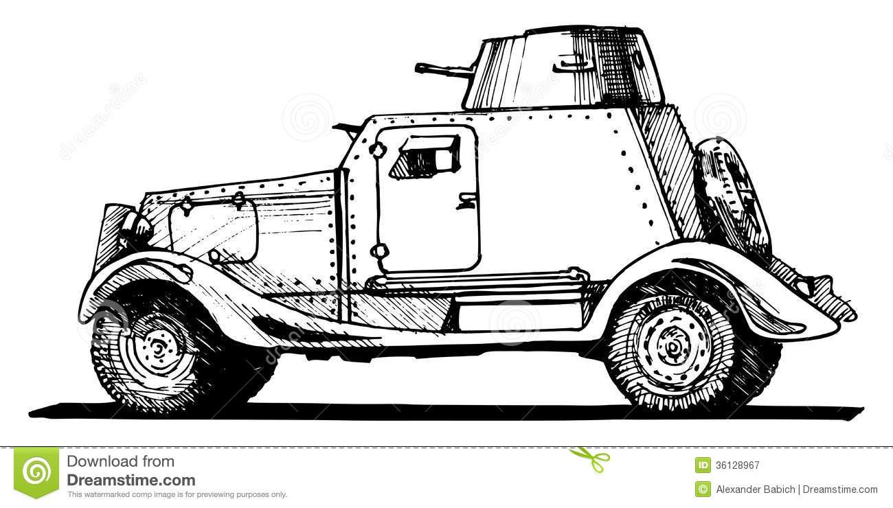 Armored Car Clip Art.