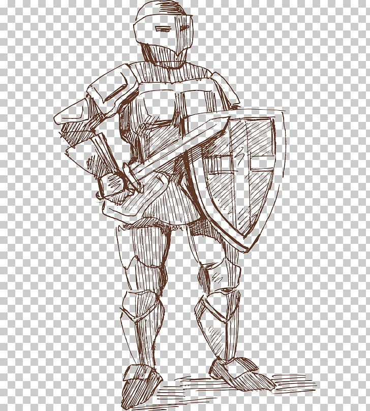 Knight Euclidean Illustration, Armored warrior PNG clipart.