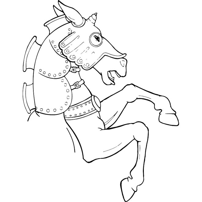 Horse two legs vector clipart.