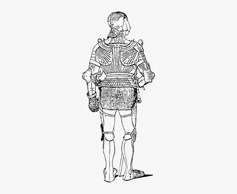 Free Vector Suit Of Armor Back Clip Art.