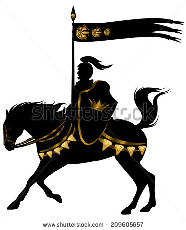Knight Horse Stock Images, Royalty.