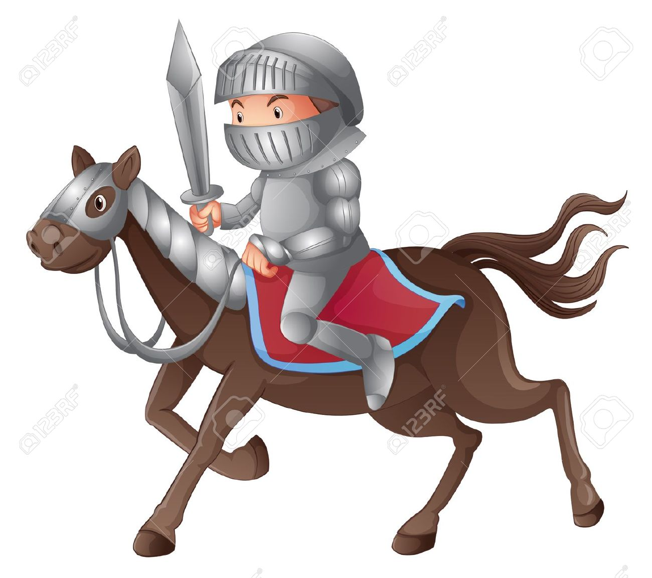 Knights On Horses Clipart.