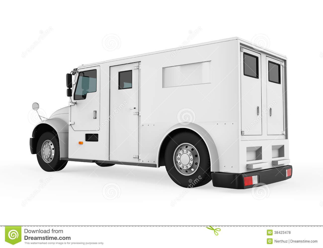 Armored Truck Royalty Free Stock Photos.