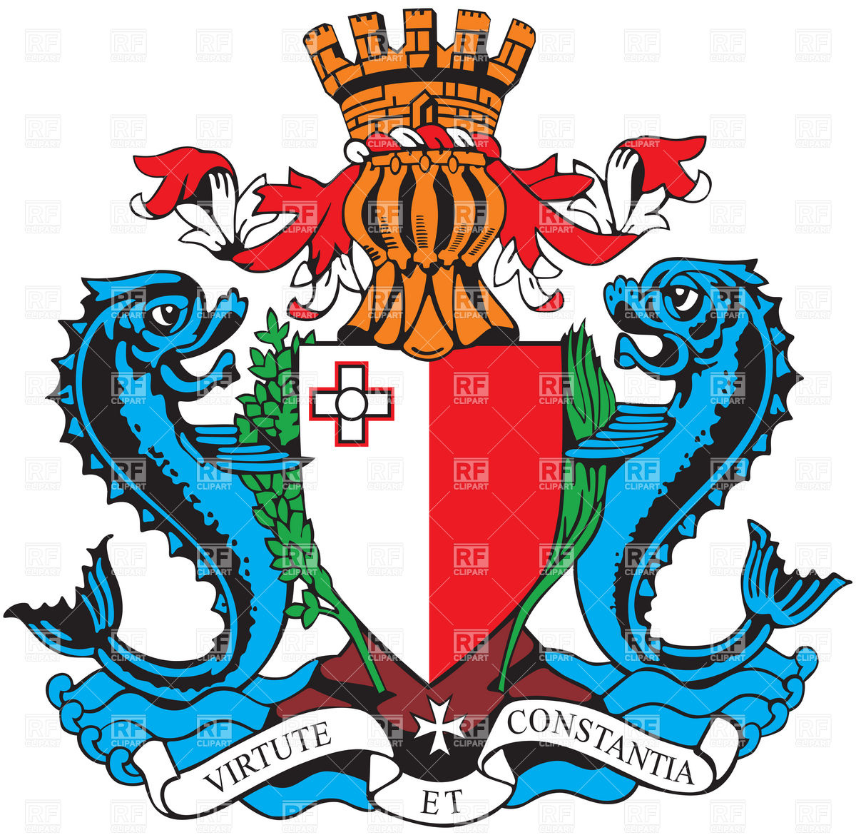 Coat of arms of Malta Vector Image #6123.