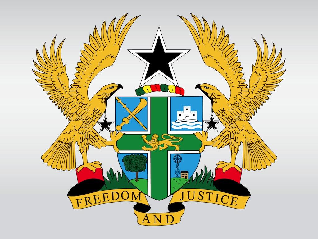 Ghana coat of arms clipart.