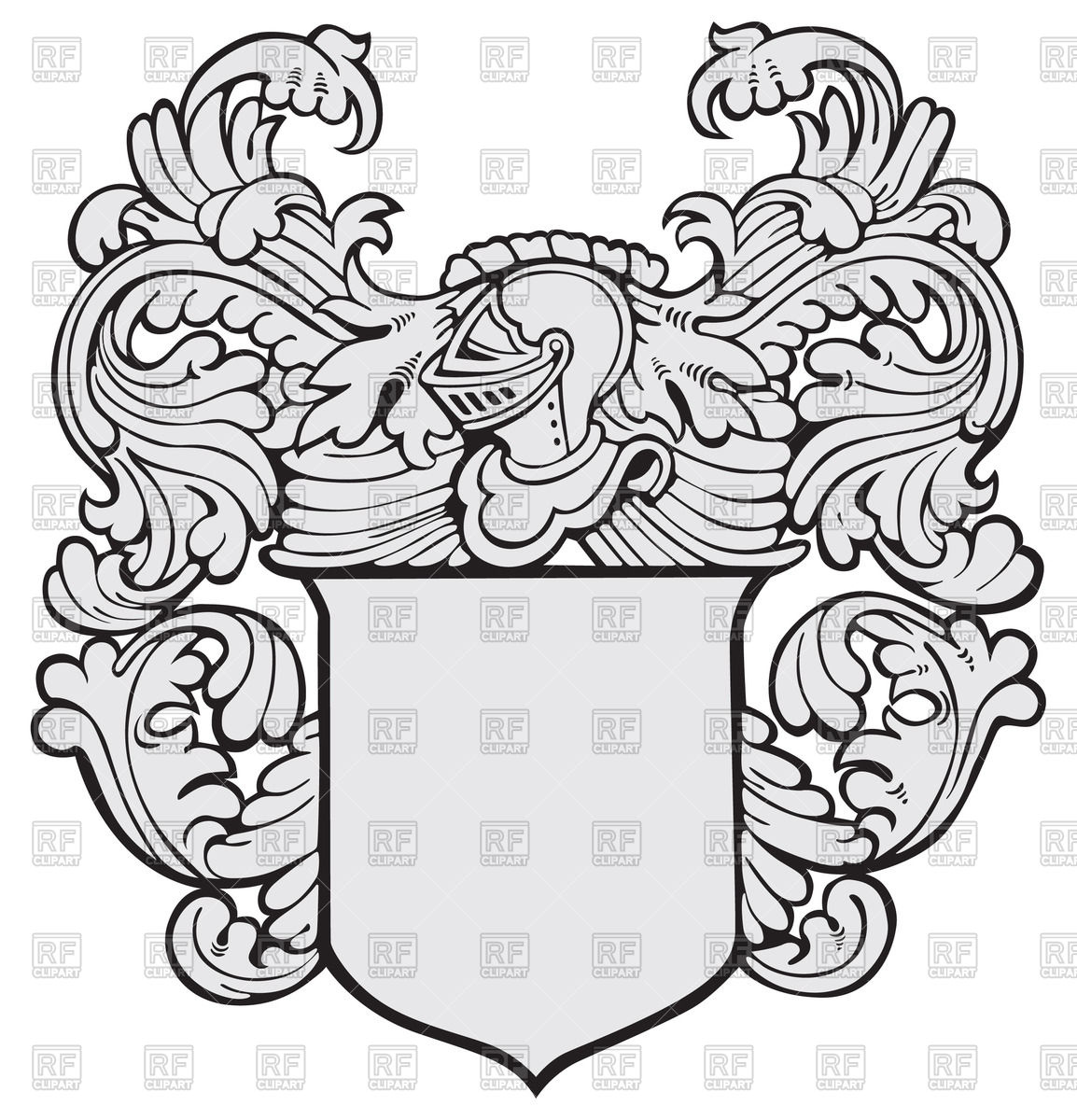 Knightly heraldry.