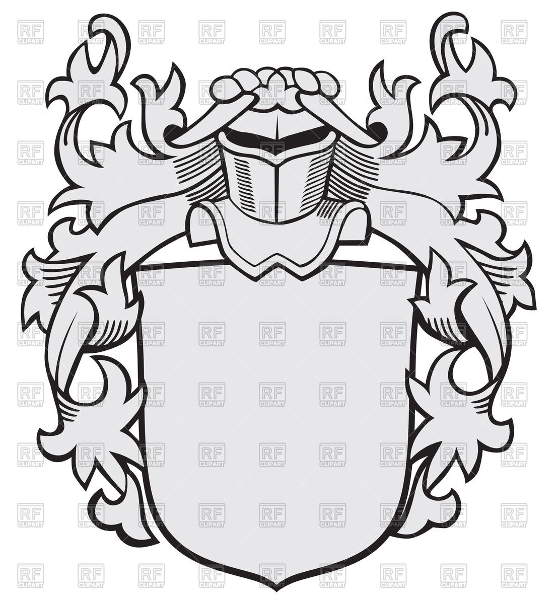 Medieval knightly coat of arms Vector Image #48210.