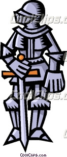 Suit of armor clipart.