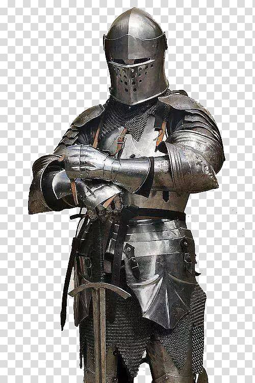 Gladiator suit, Middle Ages Knight Plate armour Components of.