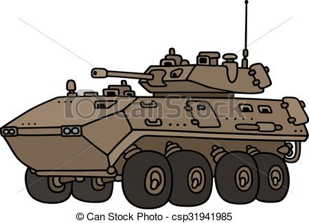 Vector of Wheeled armoured vehicle.