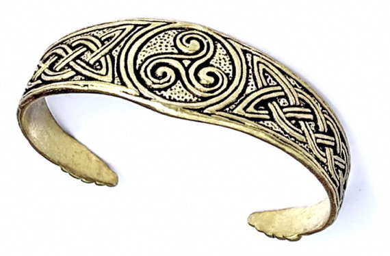 Celtic Arm Ring with Triskele 07 AR kelt 2/N1 A.