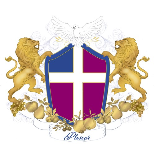 Create a Luxurious and Symbolic Coat of Arms Design for a.