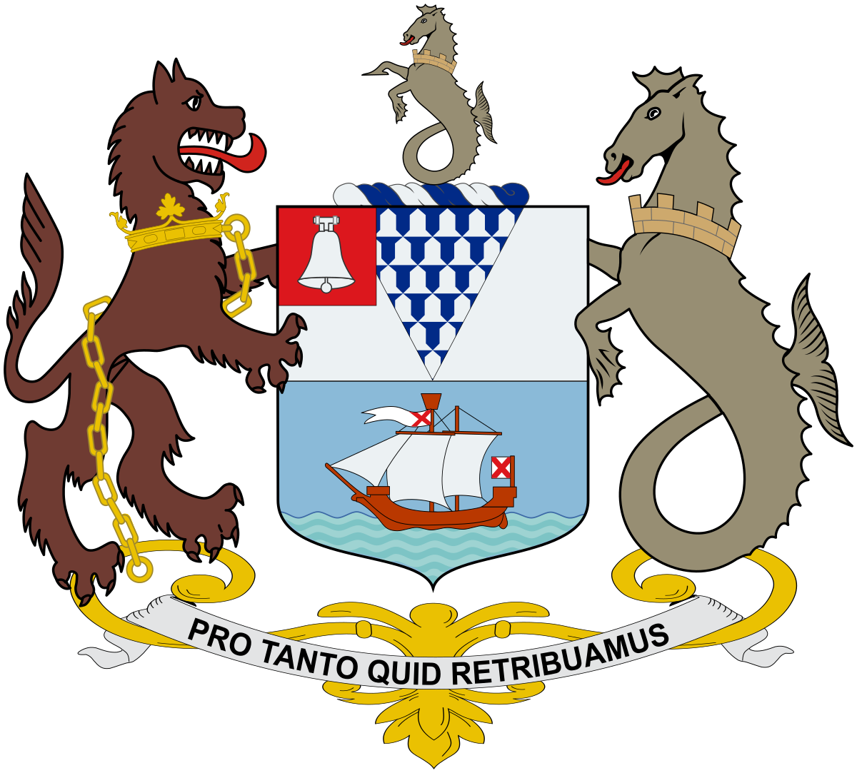 Coat of arms of Belfast.