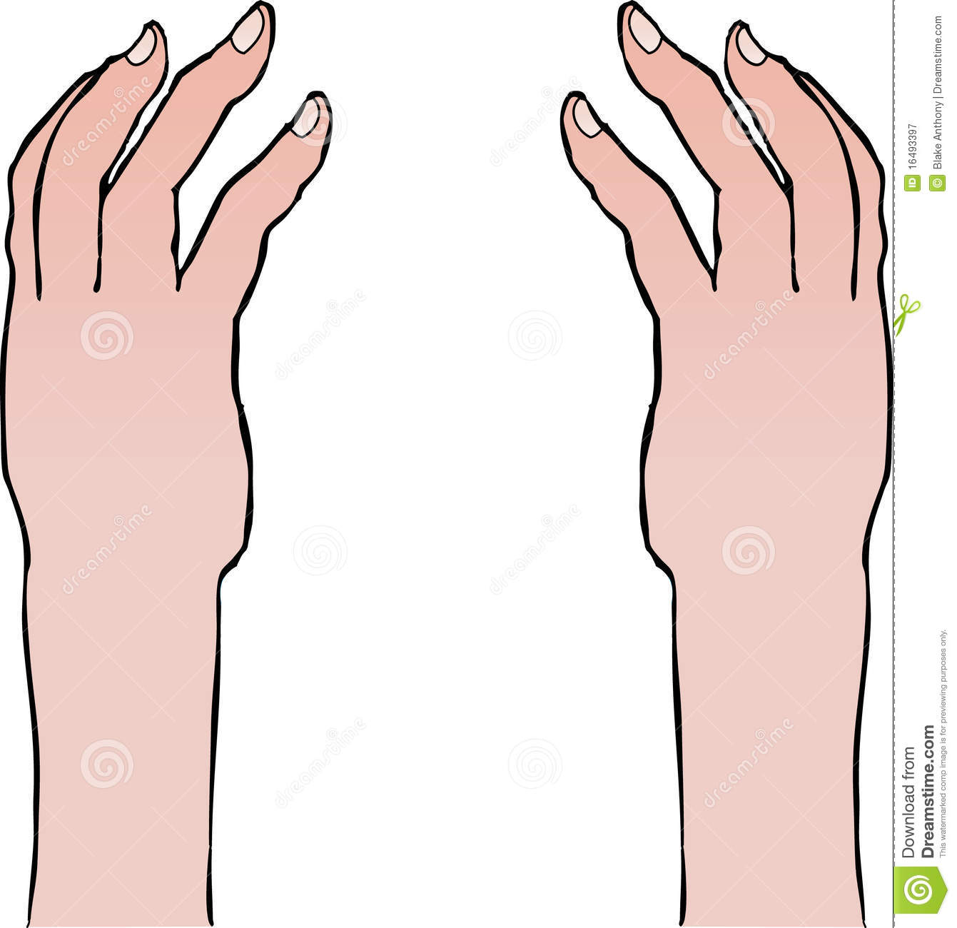 Reaching Arms Clipart.