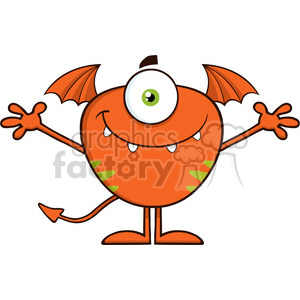 8905 Royalty Free RF Clipart Illustration Smiling Cute Monster Cartoon  Character With Welcoming Open Arms Vector Illustration Isolated On White.