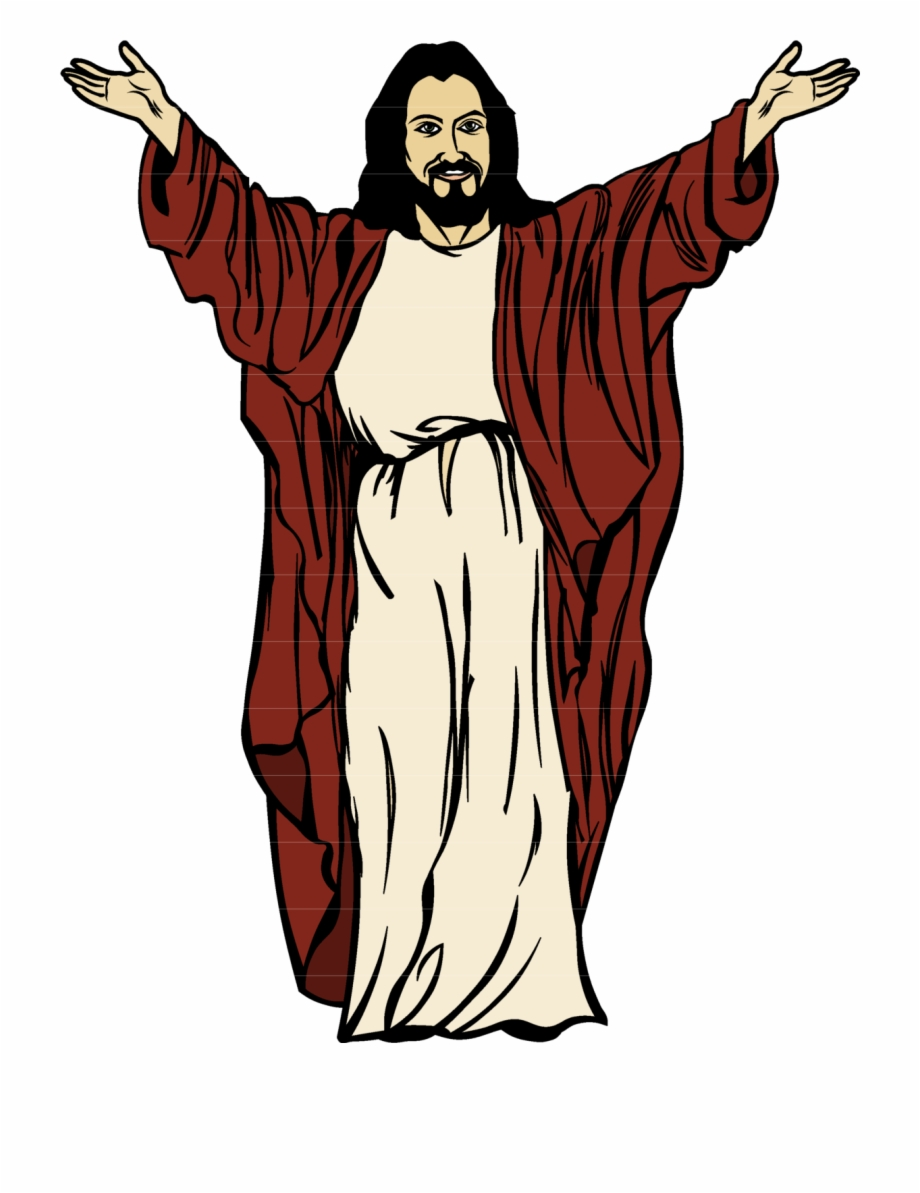 Arms Open Jesus Png Full Body Picture Cartoon.