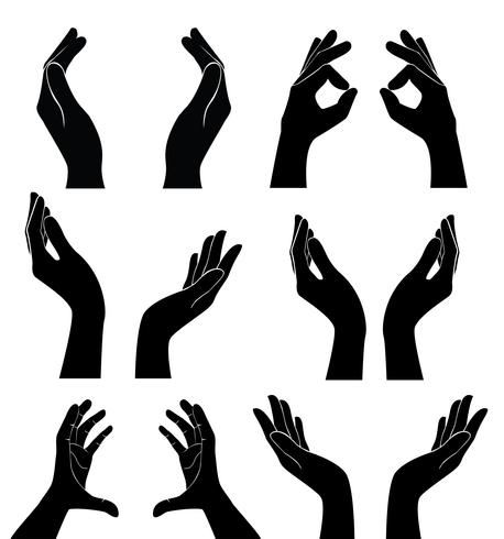 free hands holding vector.
