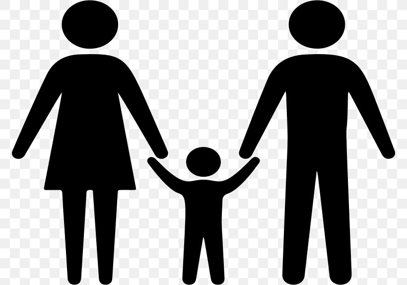 Family Silhouette Holding Hands Clip Art, PNG, 774x574px.