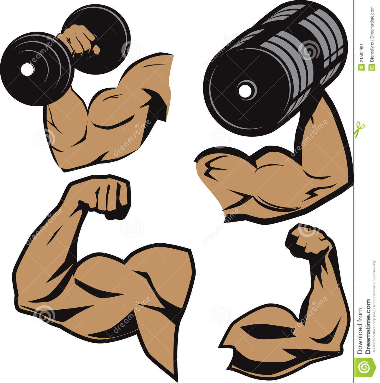 Arm Lifting Weight Clipart.