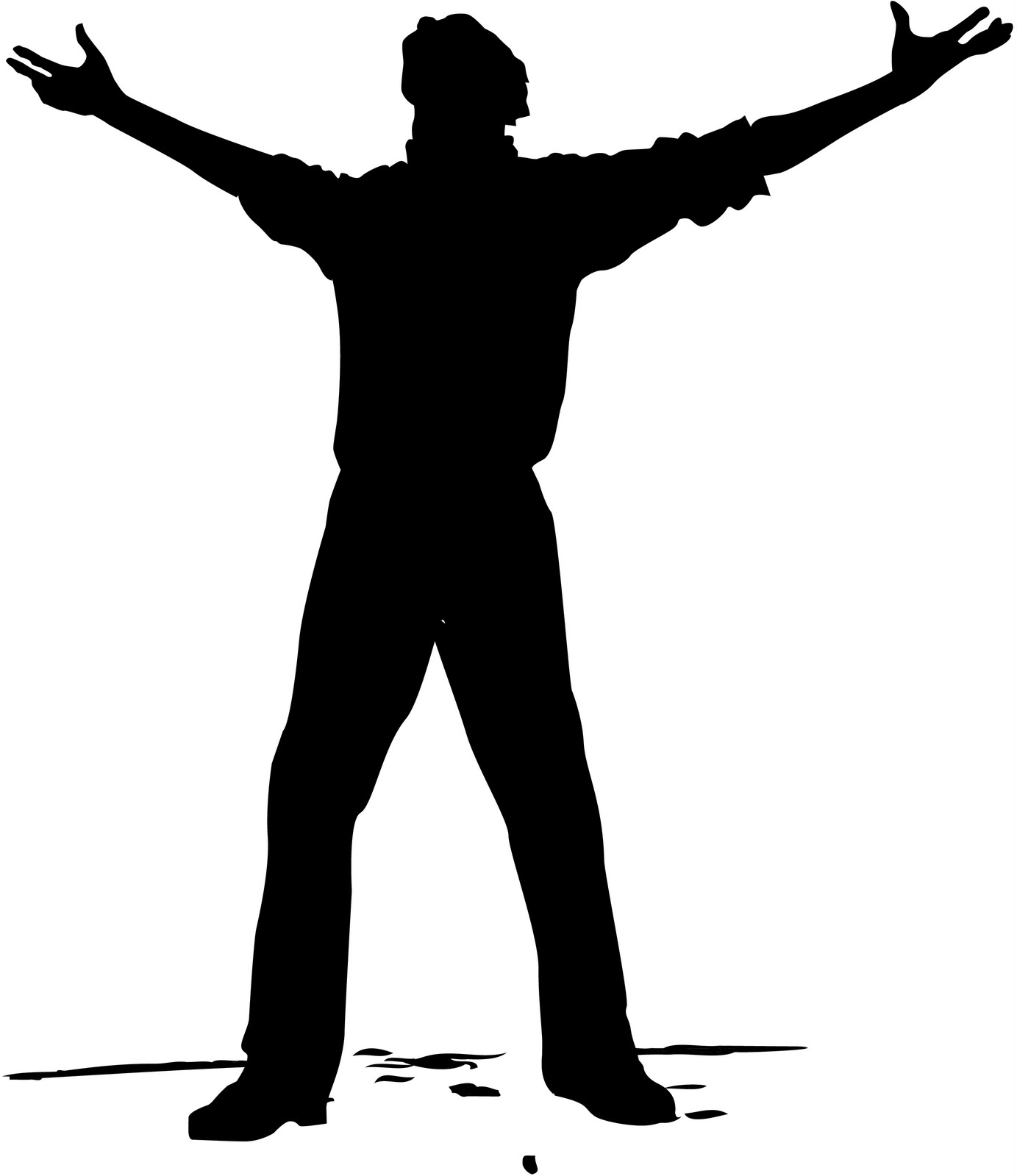 Free Man Reaching Out Silhouette, Download Free Clip Art.