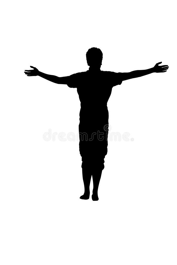 Silhouette Person Arms Out.